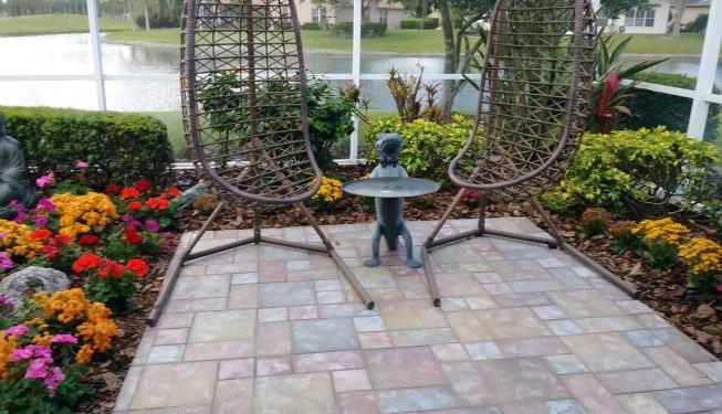 new enclosed garden patio
