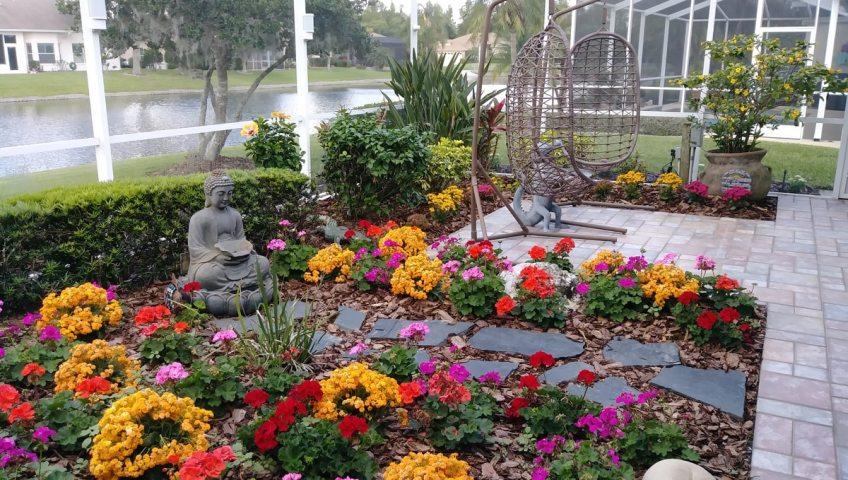 New enclosed sunroom patio garden