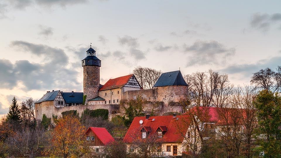 Das Bild einer Burg