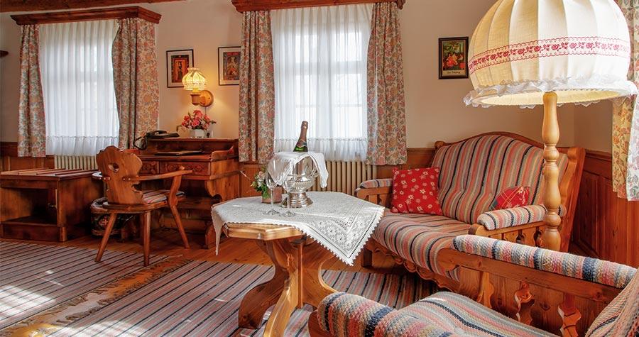 Familienzimmer im Brauhof Schnupp mit gemütlicher Einrichtung