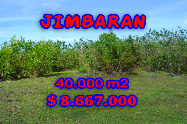 Stunning Property for sale in Bali, land for sale in Jimbaran Bali  – 40.000 sqm @ $ 217