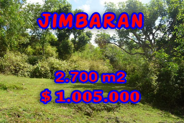 Land for sale in Jimbaran Ungasan, Magnificent Property in Bali  – 2.700 sqm @ $ 372