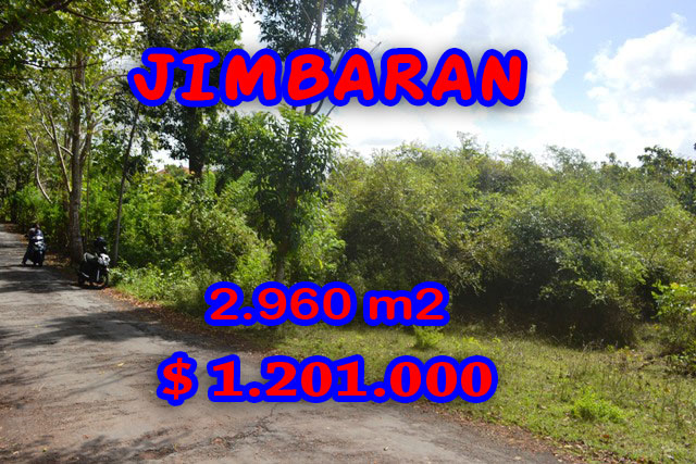 Property in Bali for sale, Spectacular land for sale in Jimbaran Bali  – 2.960 sqm @ $ 406