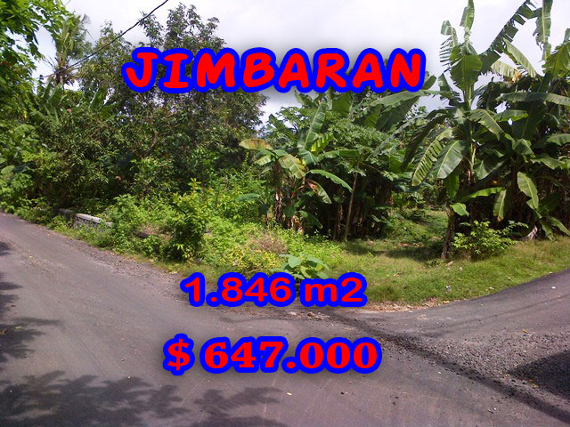 Interesting Property for sale in Bali Indonesia, land for sale in Jimbaran Bali  – 1.846 m2 @ $ 350
