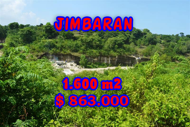 Extraordinary Property for sale in Bali, land for sale in Jimbaran Bali  – 1.600 m2 @ $ 539