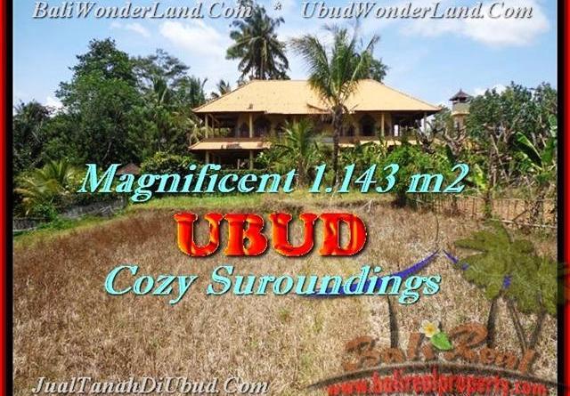 Beautiful 1143 m2 LAND IN Sentral Ubud BALI FOR SALE TJUB460