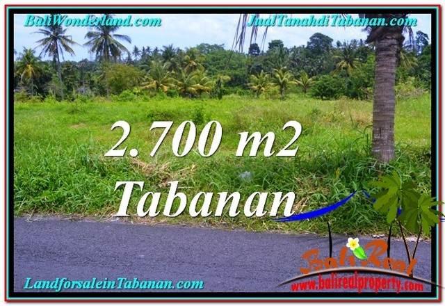 Exotic 2,700 m2 LAND FOR SALE IN TABANAN BALI TJTB301