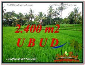 2,400 m2 LAND IN UBUD BALI FOR SALE TJUB587