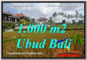 FOR SALE Exotic 1,000 m2 LAND IN UBUD TJUB618