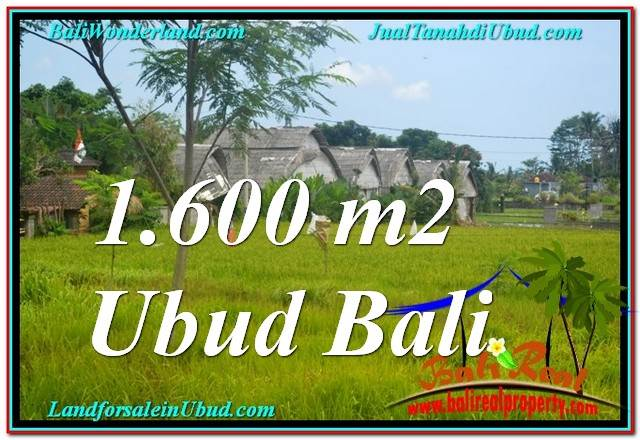 PROPERTY 1,600 m2 LAND FOR SALE IN Ubud Center BALI TJUB633