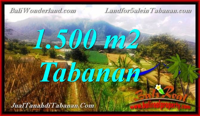 Exotic PROPERTY 1,500 m2 LAND FOR SALE IN TABANAN BALI TJTB373