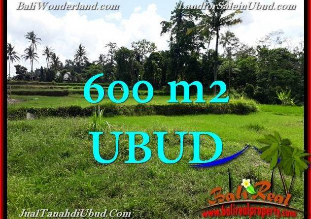 Exotic UBUD BALI 600 m2 LAND FOR SALE TJUB657