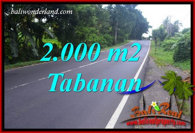 2,000 m2 Land sale in Tabanan Bali TJTB398