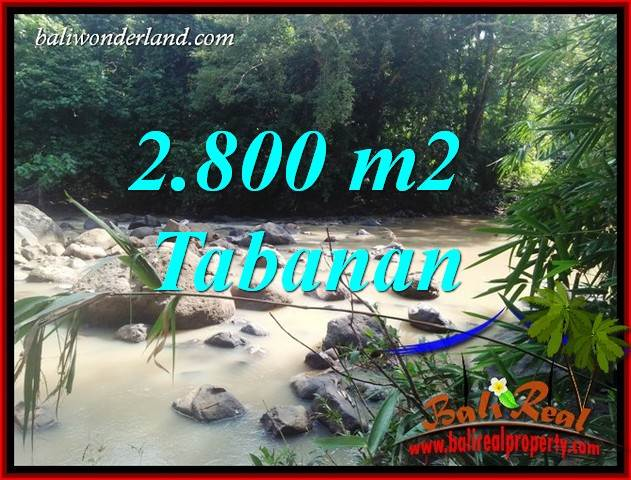 FOR sale Exotic 2,800 m2 Land in Tabanan Bali TJTB411