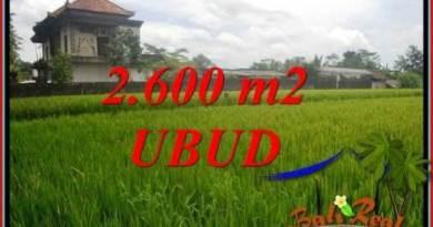 2,600 m2 Land in Ubud Bali for sale TJUB701