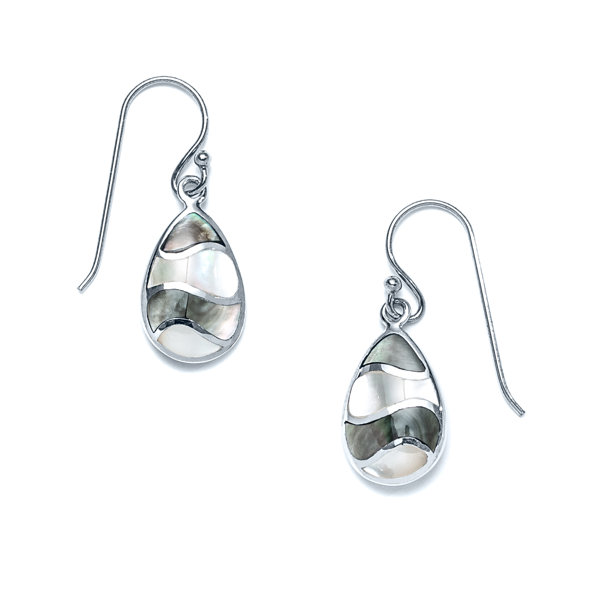 Duality Ocean Drop Earrings in Sterling Silver- Landing