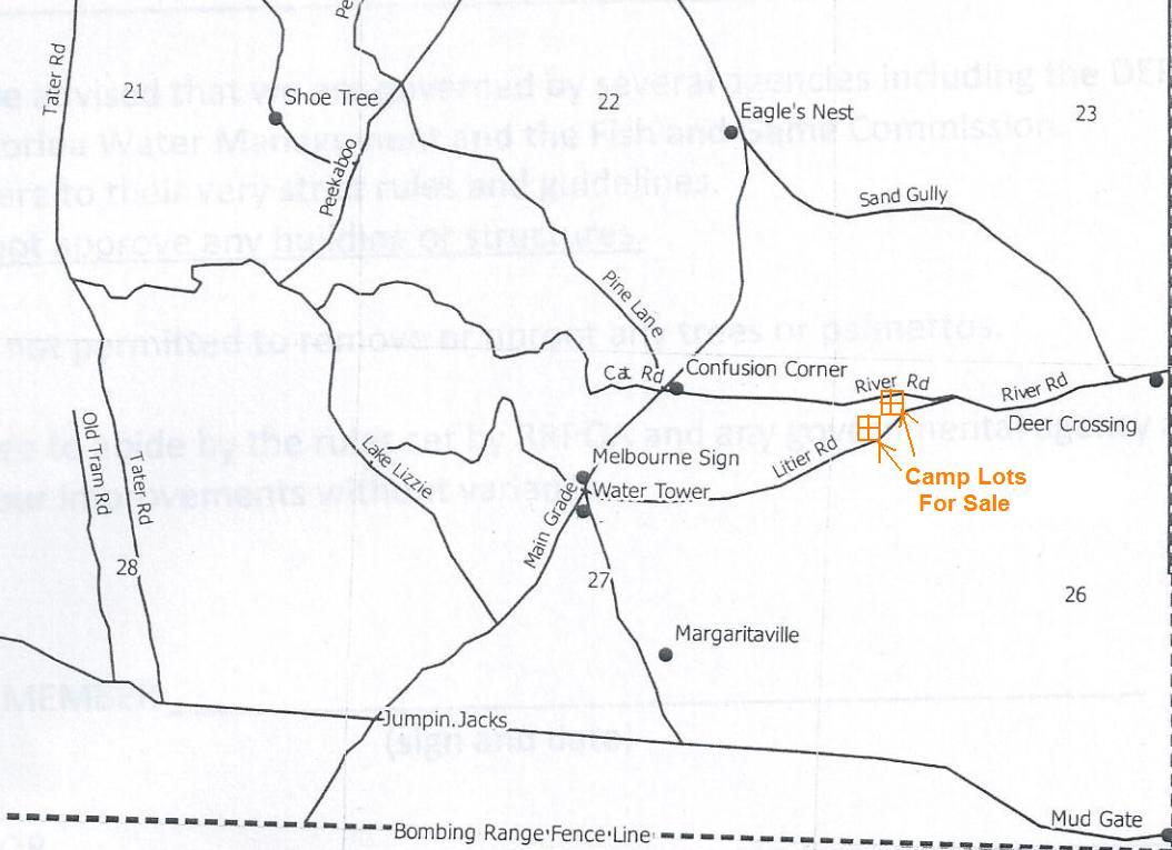 River Ranch Acres Florida Recreational RRPOA Property Camp