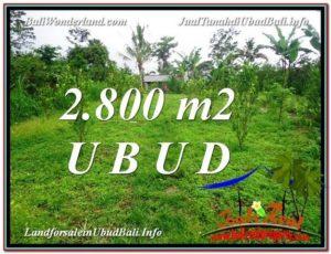FOR SALE Beautiful 2,800 m2 LAND IN UBUD BALI TJUB592