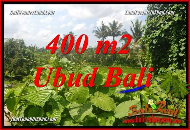 FOR sale Magnificent 400 m2 Land in Ubud Bali TJUB684