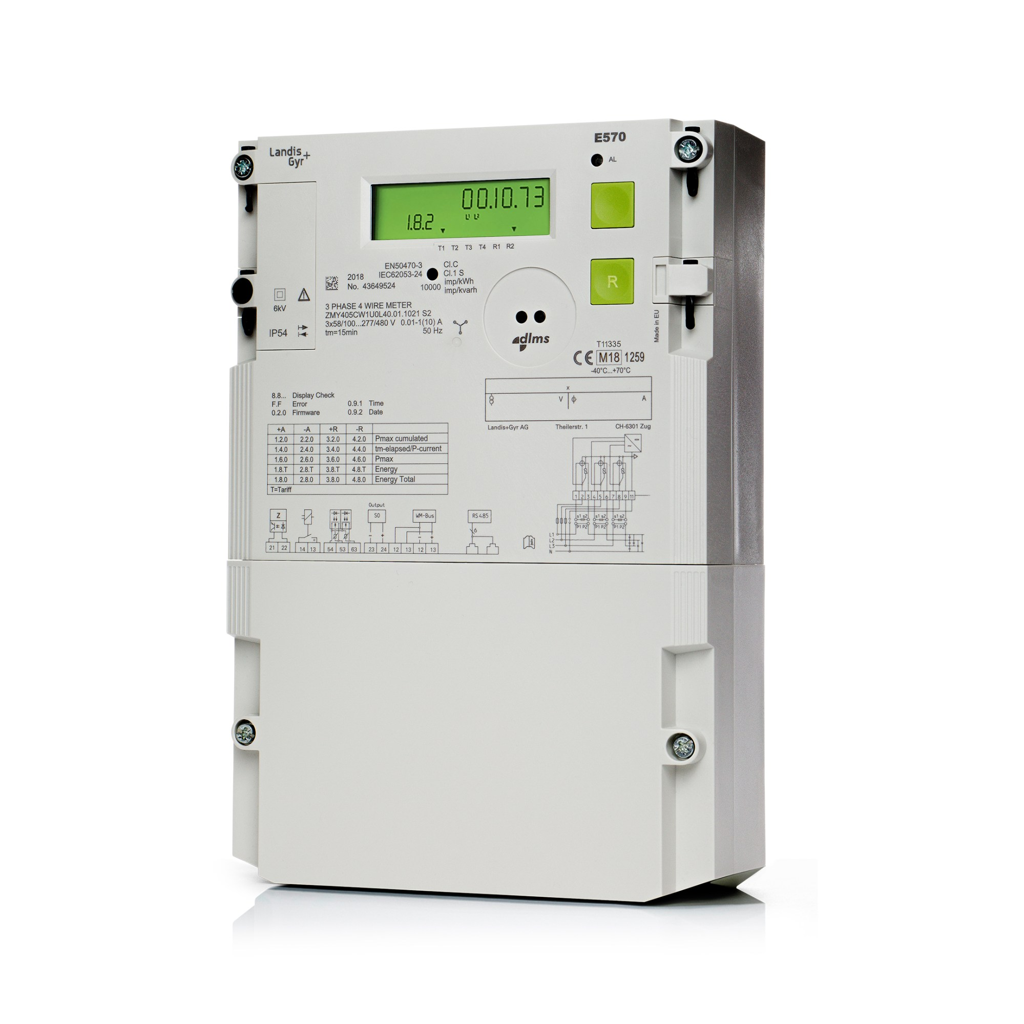 hight resolution of commercial and industrial meters