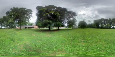 360 view of visitor center grounds