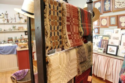 textiles in the Landis Valley Museum Store