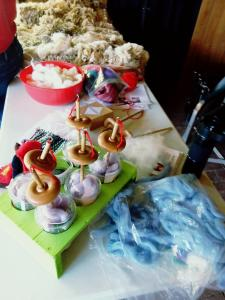 spinning kits at Wool Frolic
