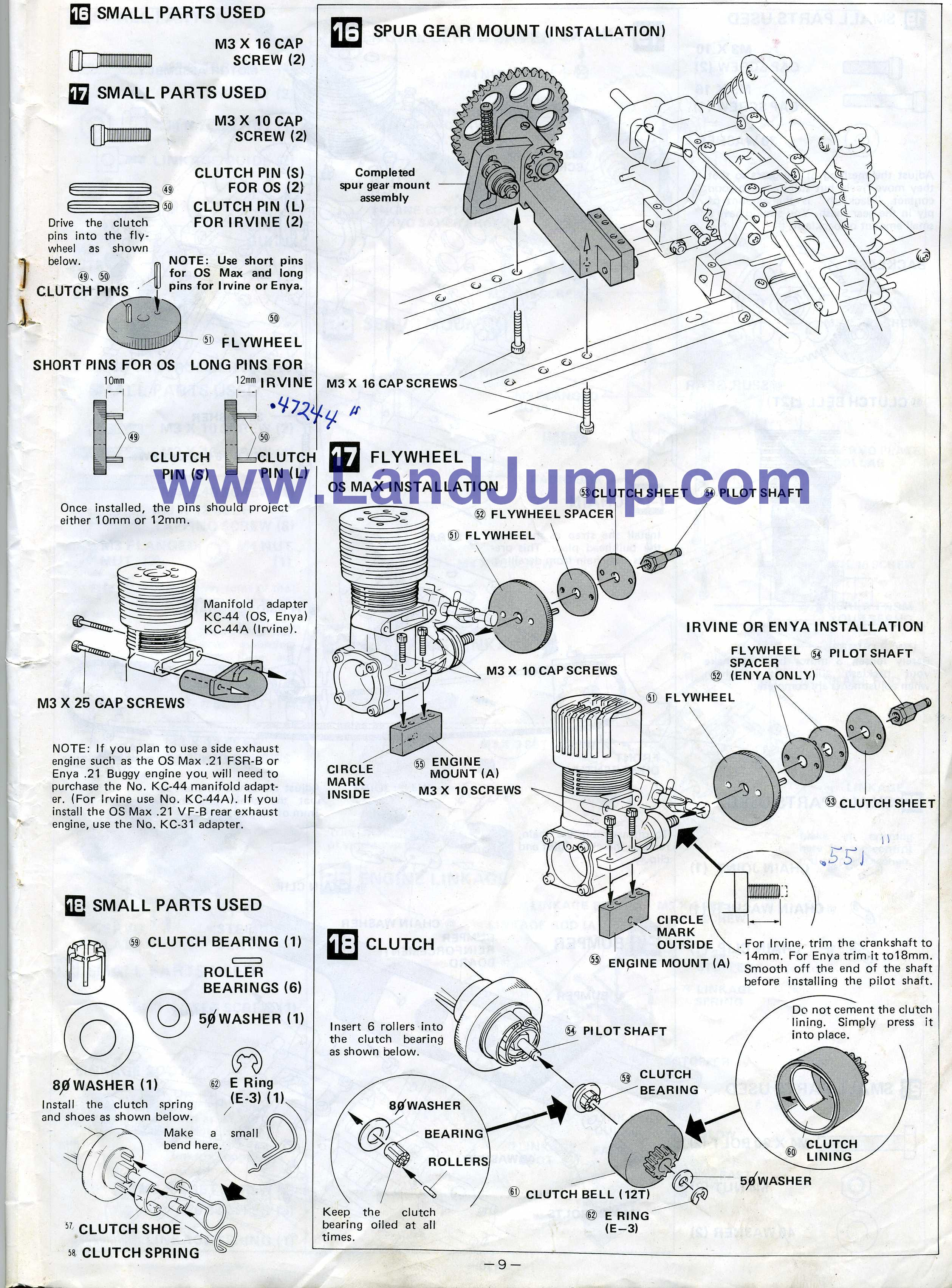 Kyosho Landjump Gas Powered 4wd Vintage Landjump Buggy
