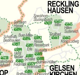 Gelsenkirchen Plz Karte  hanzeontwerpfabriek