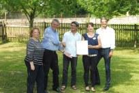 Verleihung des 1. Jurypreises an die Kirchengemeinde Arnsdorf