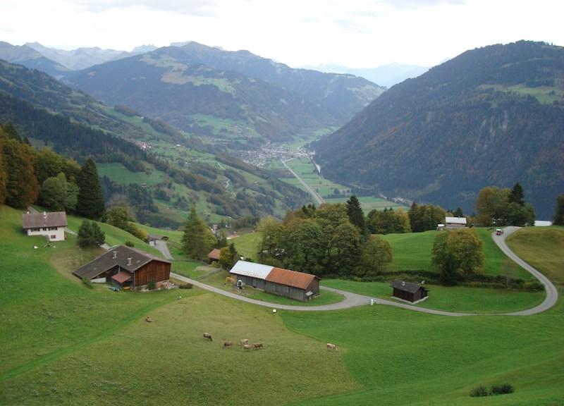 Das Prättigau: hügelig sanft und alpin wild