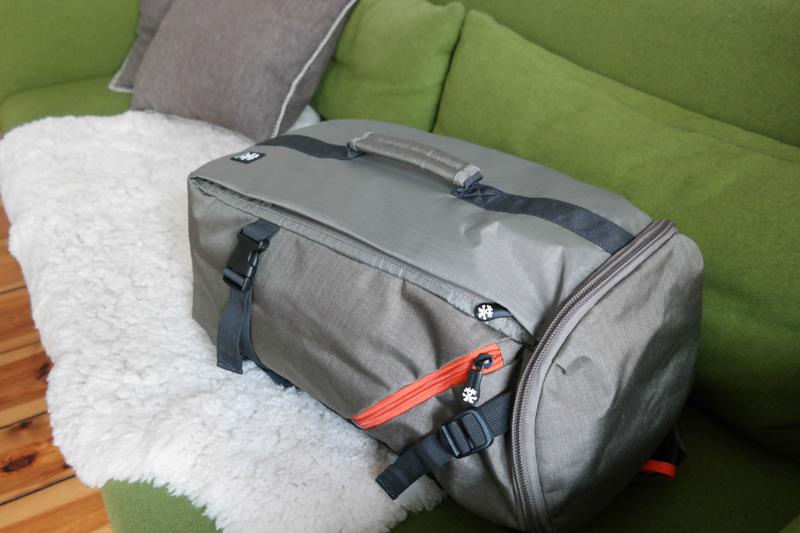 Der Rucksack wird zur Reisetasche