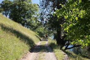 Aufstieg zur Burganlage Hohen Rätien