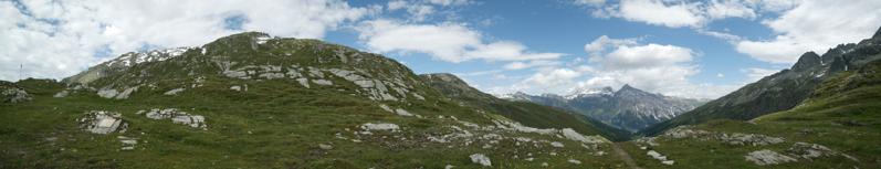 Kurz vor der Grenze Schweiz-Itallien (Splügenpass)