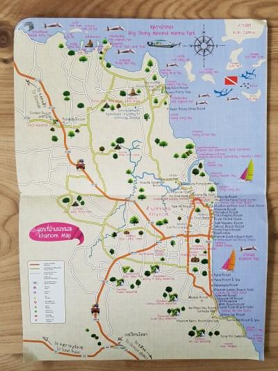 Die offizielle Karte von Khanom