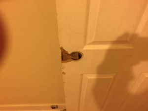 Broken door left after move out