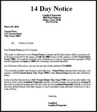 14 Day Eviction Notice