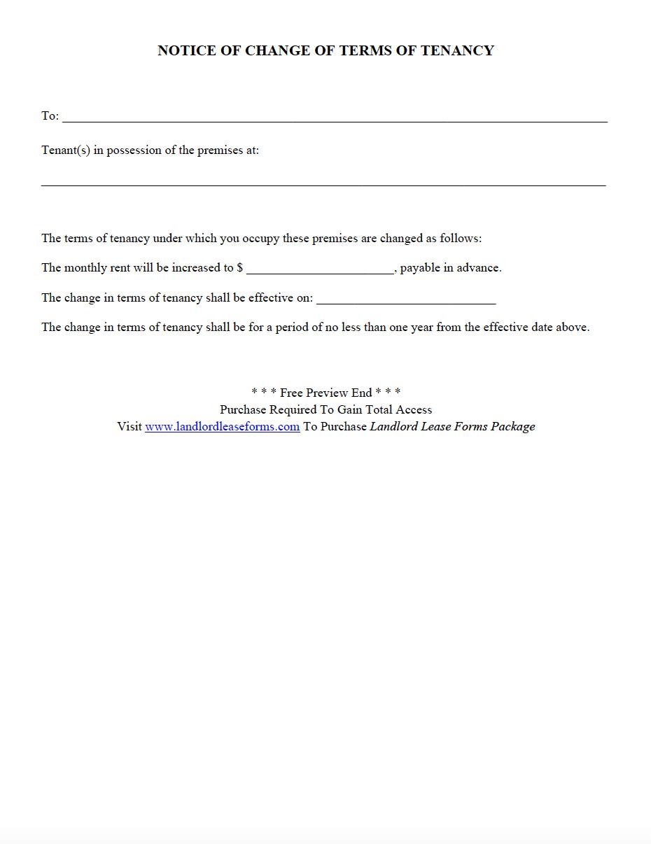 rental notice letter