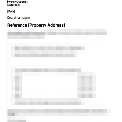 Notify water authority of new tenants template