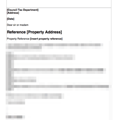 Notify council tax of new tenant template