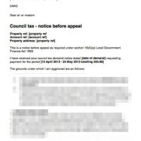 Council Tax Letter Before Appeal  Tenant Not Given