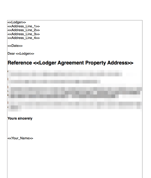 Terminate a Lodger Agreement No Fault Nor Breach   GRL Landlord ...