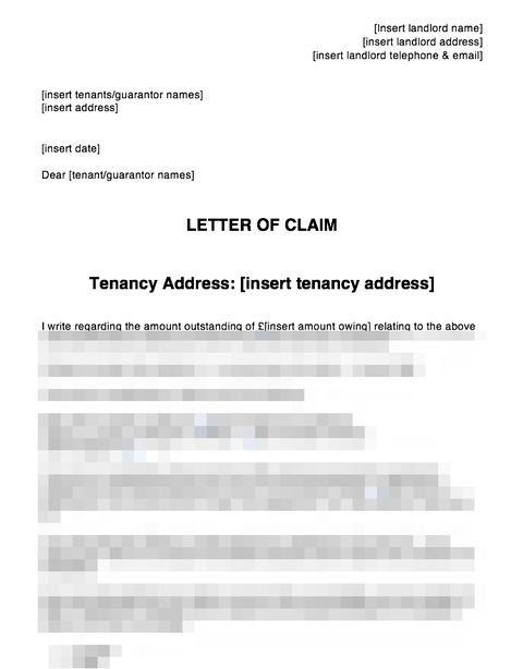 Letter of claim pre-action October 2017