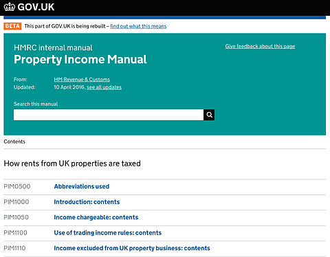 Hidden Tax Help For Landlords On The HMRC Web Site