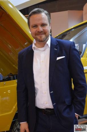 Tim Hannig dirige tout le programme land Rover Reborn
