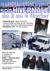 Hivernale Landrauvergne 2018 @ Chambon sur Lac | Chambon-sur-Lac | Auvergne-Rhône-Alpes | France