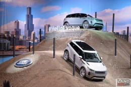 <> Jaguar Land Rover debuts new Range Rover Evoque at Chicago Auto Showat McCormick Place on February 7, 2019 in Chicago, Illinois.