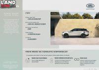 Infographie Range Rover Velar P400e Overview