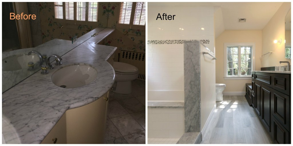 Water Damage Leads To Gut Remodel Of Brookline Home Part - Bathroom gut and remodel