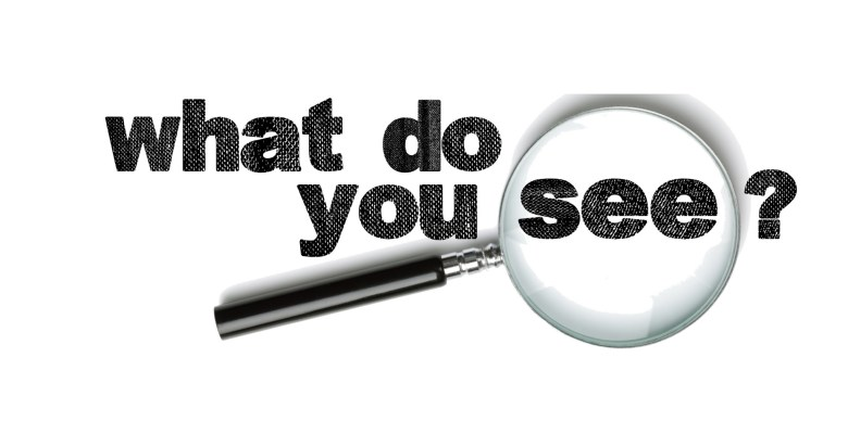 logo and magnifying glass